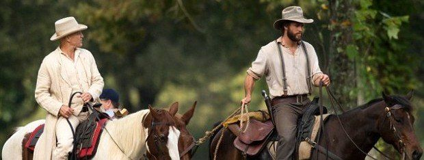 """""""By Way of Helena,"""" a feature film starring Liam Hemsworth (right) and Woody Harrelson, was shot in Greenwood, Miss. -- one of 19 feature films to have been filmed either wholly or in part in Mississippi during 2014. (SDFL / Splash News)"""