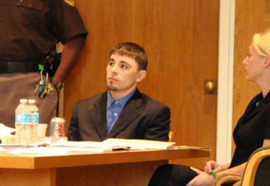 Christopher Lee Baxter is shown in May 2012 during his capital murder trial in the Adams County Courthouse.