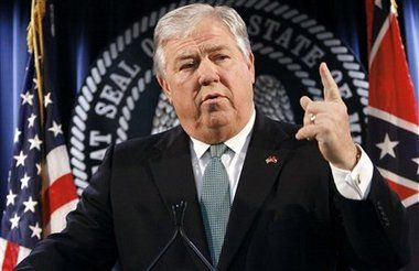 Haley Barbour had been Mississippi governor for barley 19 months when Hurricane Katrina devastated the Mississippi coast in August 2005. File photo/The Associated Press