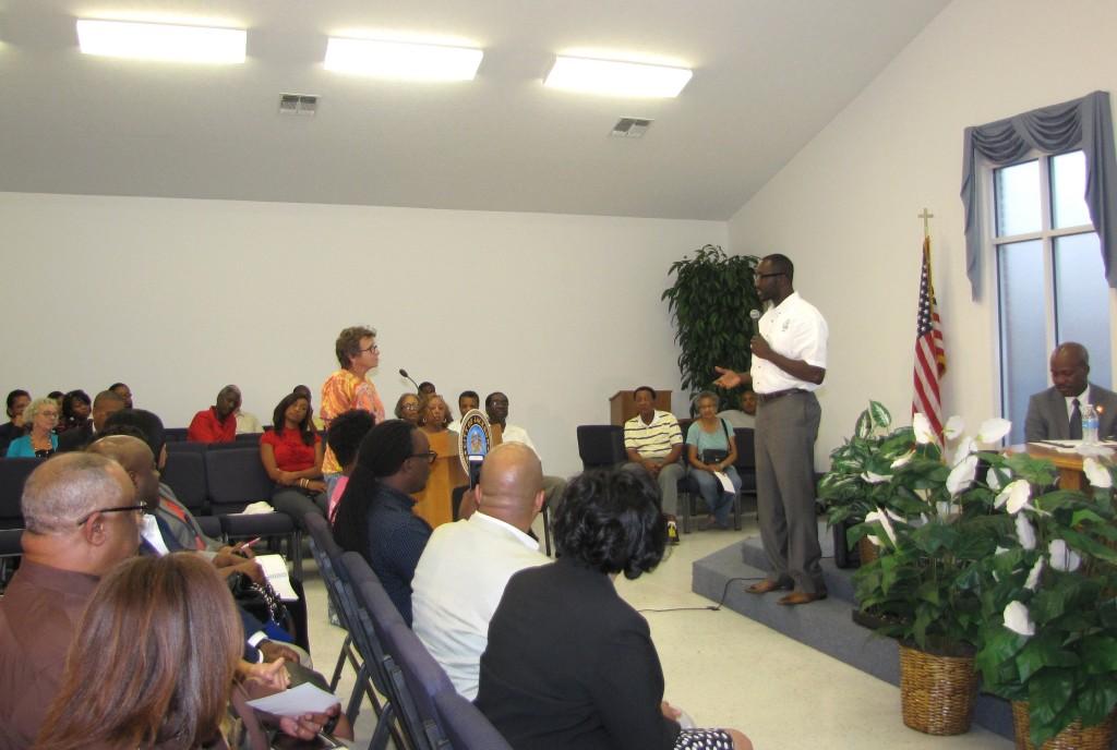 Mayor Tony Yarber at the public forum held at Progressive Baptist Church. PHOTOS BY JANICE K. NEAL-VINCENT