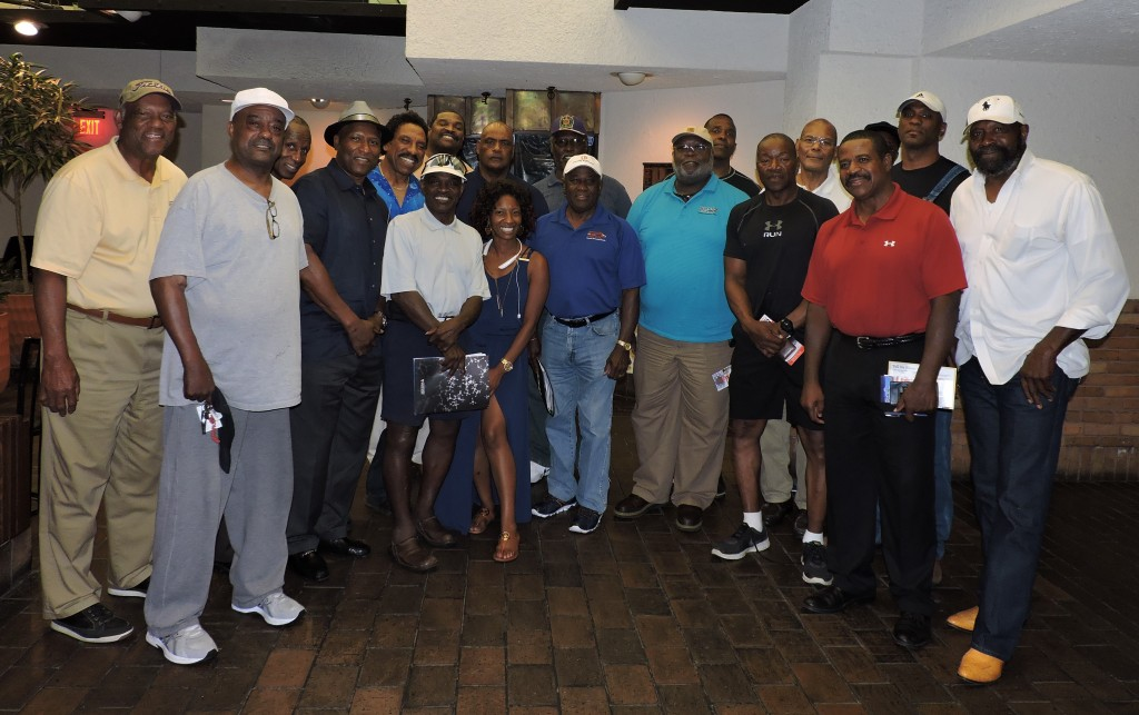 Willie Richardson, left, joins members of the MS Retired NFL Players Association