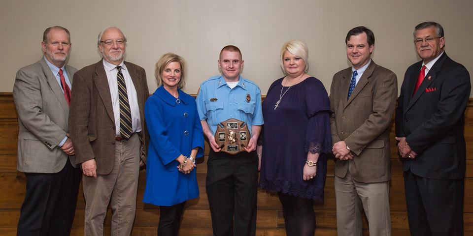 Pictured are Jeff Kuntz of Emergency Equipment Professionals (from left), Dr. William C. Lineaweaver of JMS Burn Center, Amanda Fontaine of Mississippi Burn Foundation, Firefighter Ben Haskins, Ann Lott of Colonial Pipeline, Jon-Paul Croom of Merit Health and Reggie Bell of the Mississippi Fire Academy.