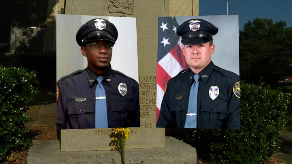 Hattiesburg police officers Liquori Tate and Benjamin Deen will be honored this week in Washington, D.C. Photo Courtesy of NBC NEws