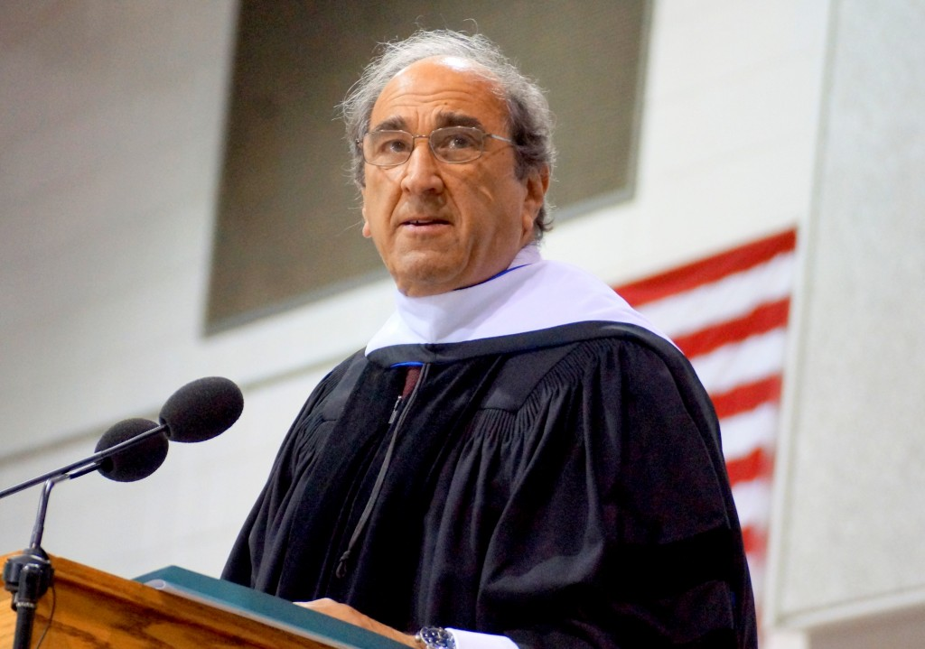 Andrew Lack, chairman of NBC News and MSNBC, gave the commencement address.
