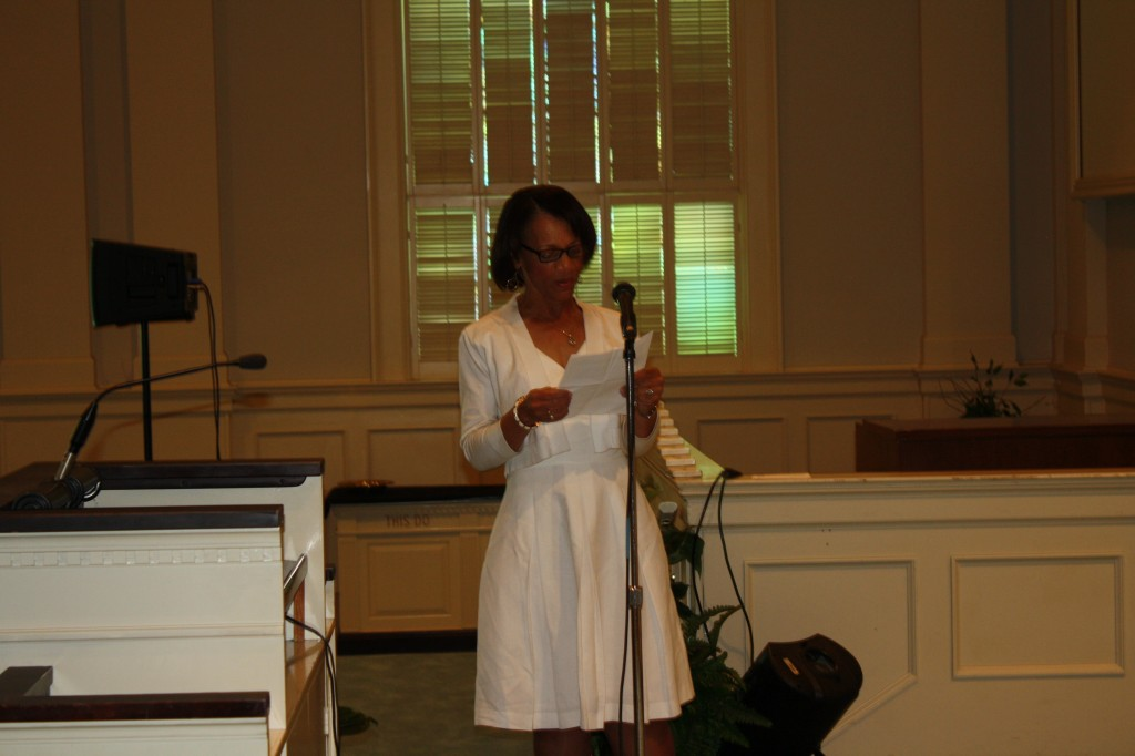 The Mississippi Link Publisher Jackie Hampton delivers the keynote speech to students.
