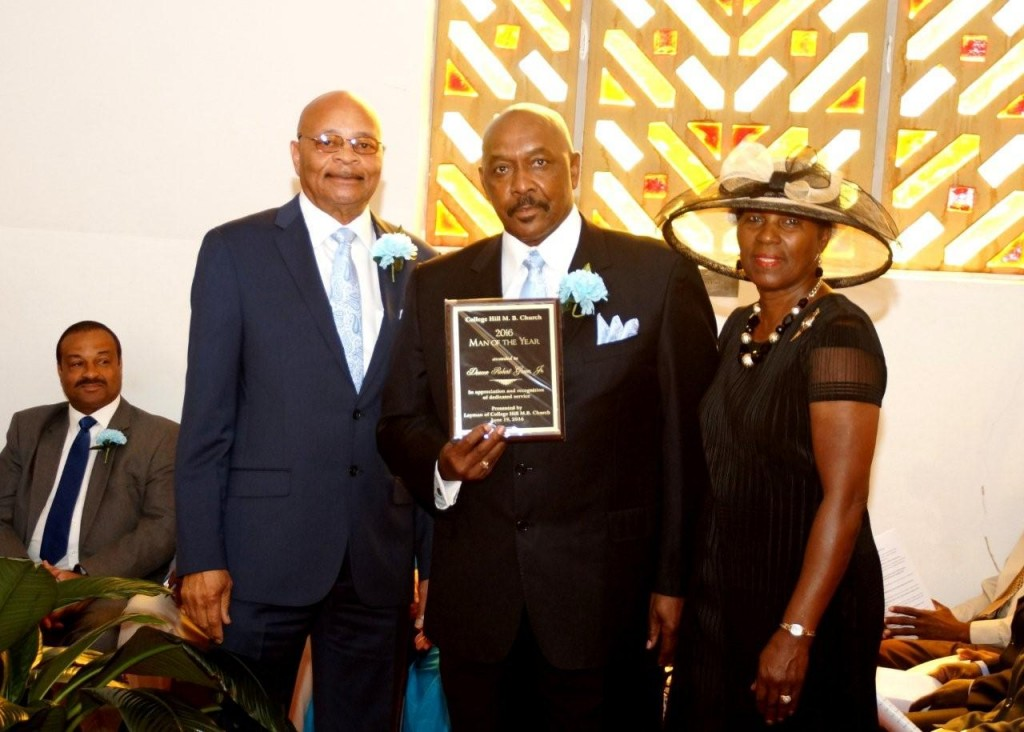 Calvin Michael, College Hill Man of the Year Robert Green and wife, Audrey Green   PHOTOS BY JAY JOHNSON