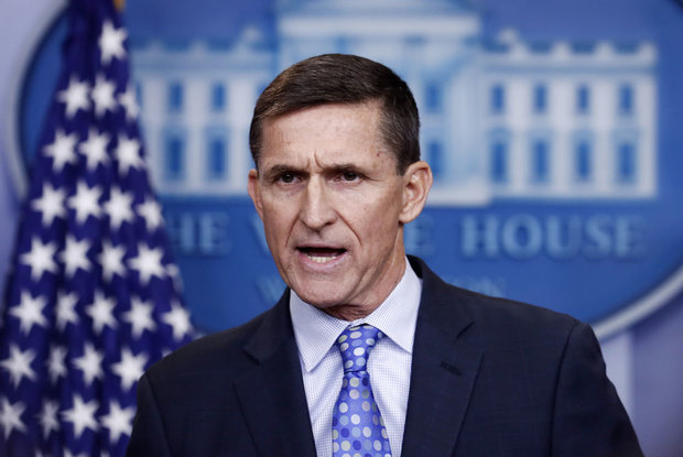 In this Feb. 1, 2017, file photo, National Security Adviser Michael Flynn speaks during the daily news briefing at the White House, in Washington. (AP Photo/Carolyn Kaster, File)