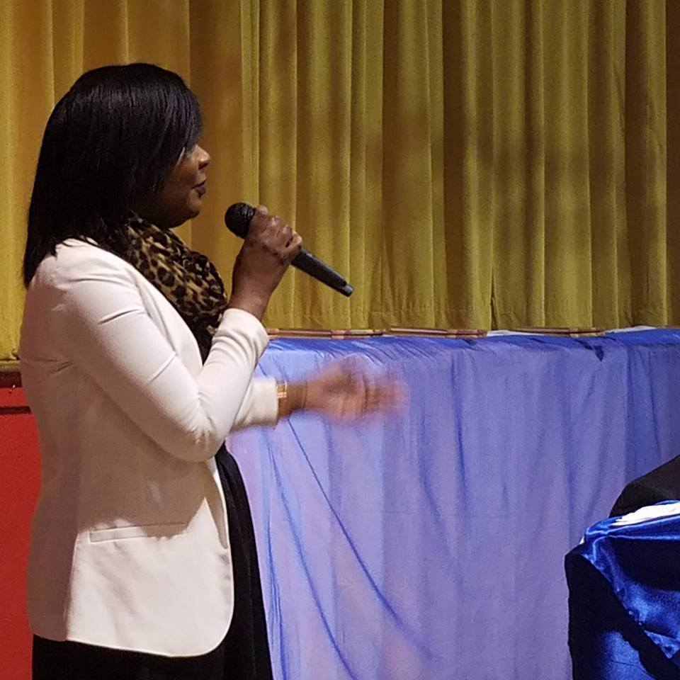 Educator LaTannica serenades winner with Hero