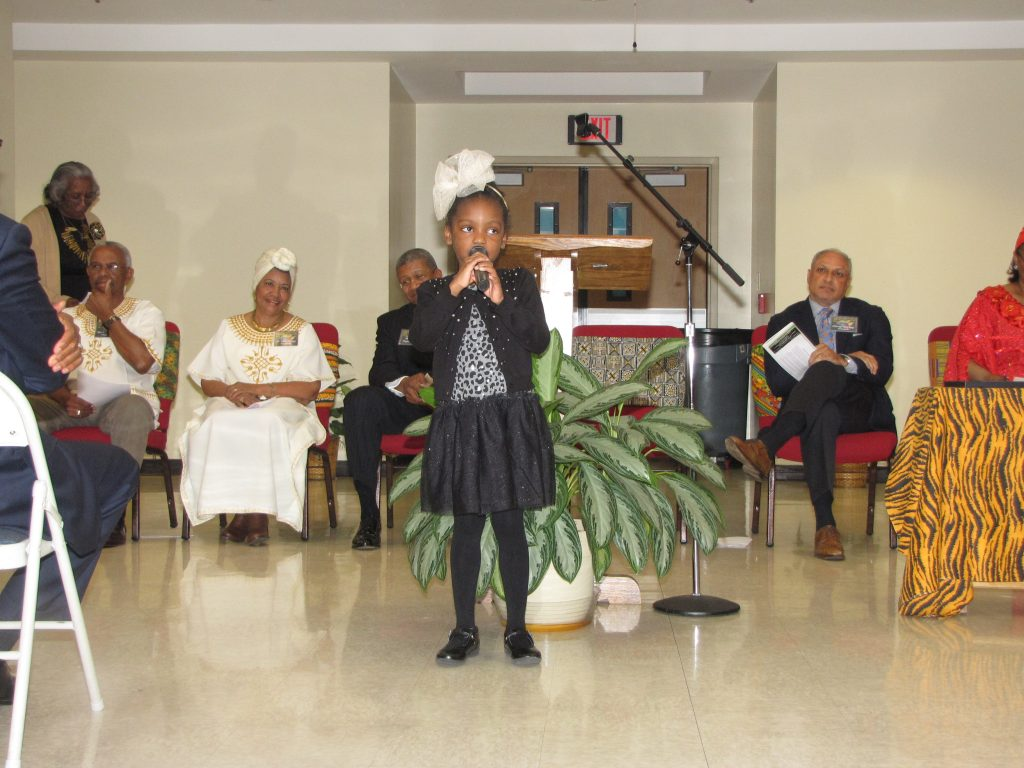 "New Hope Christian School girl dramatizes poet Mychal Wynn's ""I Am the Black Child."""