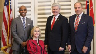Gov. Phil Bryant with appointees Steven Cunningham, Jeanne Luckey and Bruce Martin (Office of Gov. Phil Bryant)