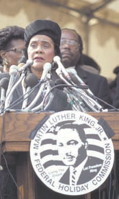 Coretta King PHOTO: LIBRARY OF CONGRESS