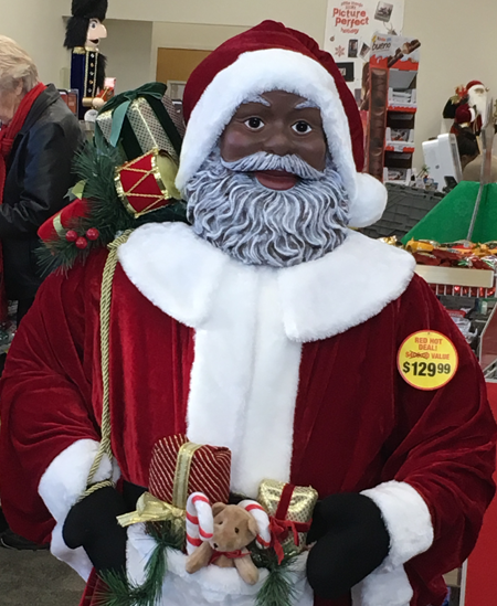 This Black Santa seen in CVS stores across the country is one way that corporations appear to try harder to reach African Americans and other consumers of color. But levels of active advertising with black media that reach black consumers remains disappointing.