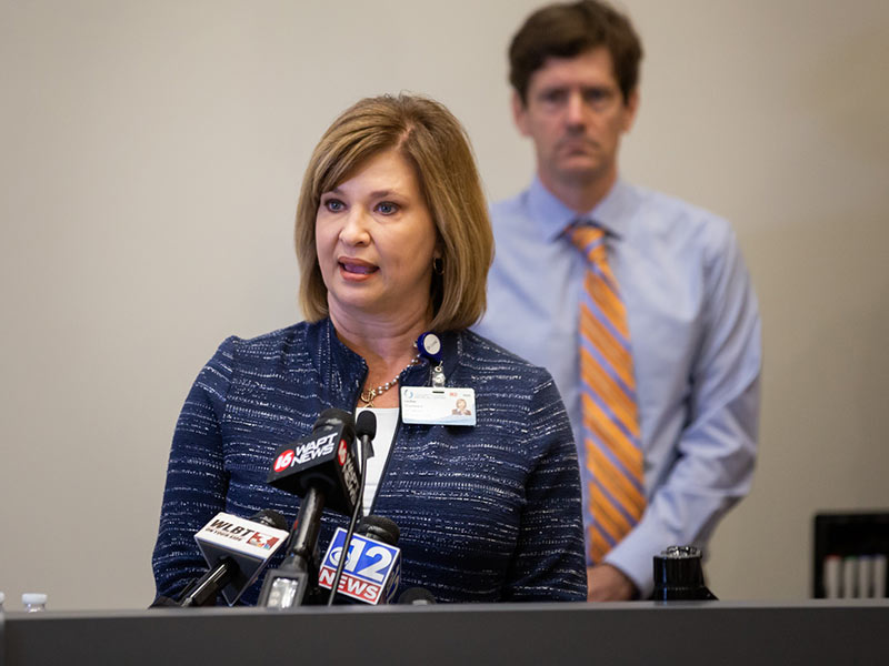 Dr. LouAnn Woodward, UMMC vice chancellor for health affairs, describes the Medical Center's plans to facilitate additional screening and testing of Mississippians for the COVID-19 virus.