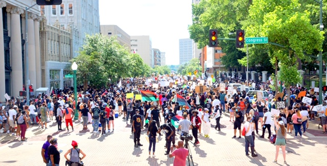 A scene from the Saturday June 6, 2020 Protest