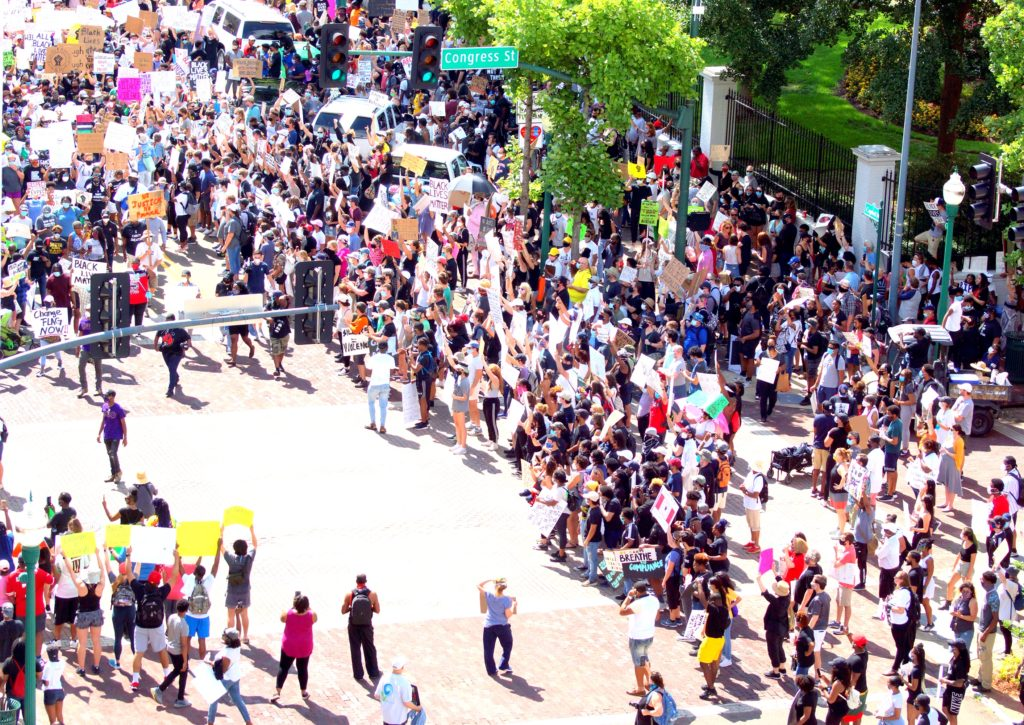 A scene from the Saturday June 6, 2020 Protest2