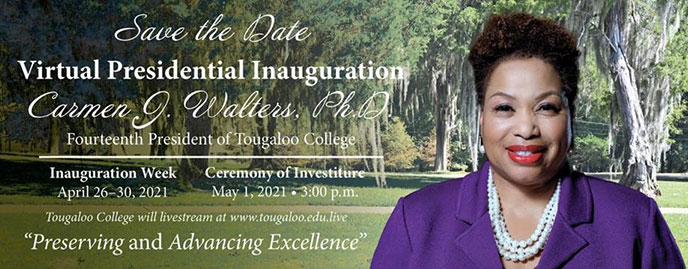 Save the Date: Virtual Presidential Inauguration Carmen J. Walters. Ph. D
