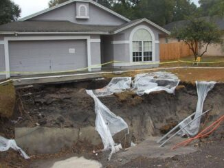 Groundwater levels can take years to recover from drought, according to a new study, and continuing to pump it leads to sinking land. Groundwater levels in Florida when the photo was taken, in 2010, dropped to record-setting lows as farmers pumped water to irrigate their plants for protection from cold temperatures. (U.S. Geological Survey)
