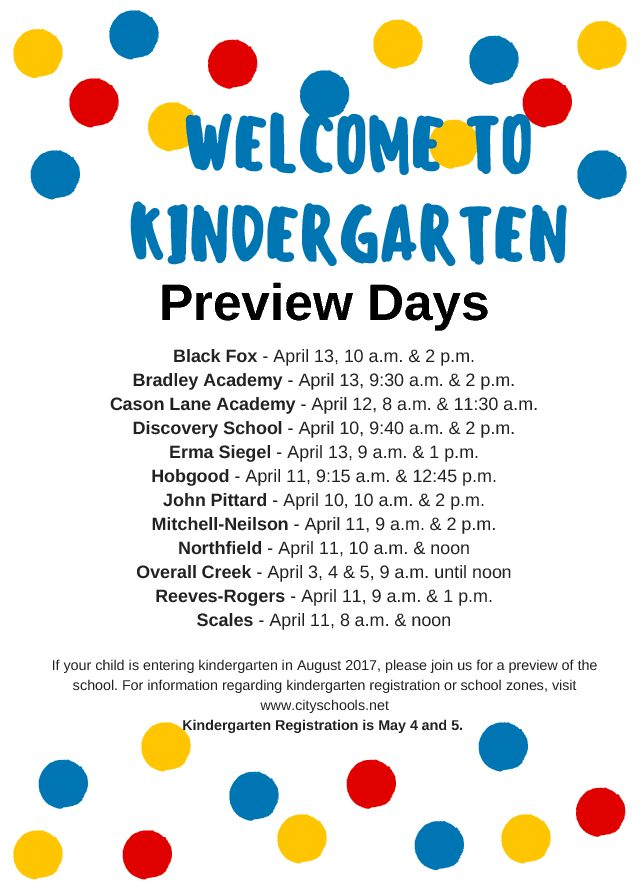 Photo of Kindergarten Preview Days