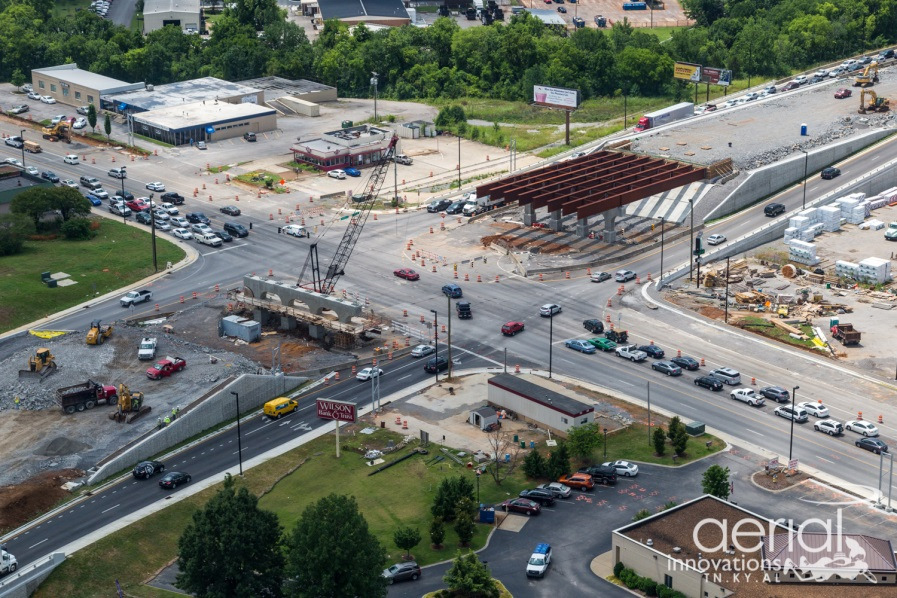 Photo of TDOT TRAFFIC ADVISORY – Broad and Memorial Intersection Closed this Weekend