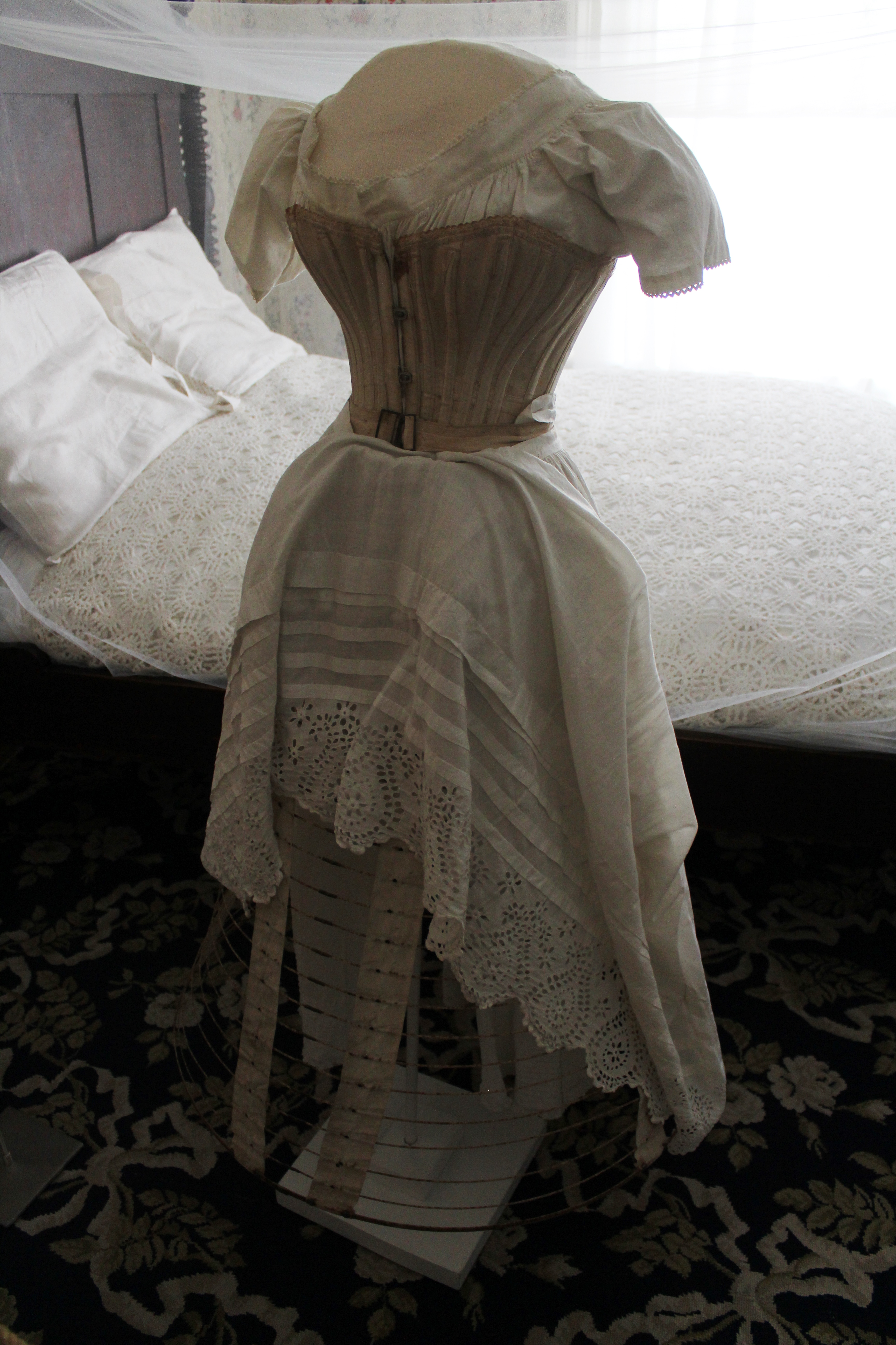 """Photo of """"Behind Closed Doors: At-Home Wear & Underwear"""" Period Clothing Exhibition at Oaklands Mansion"""