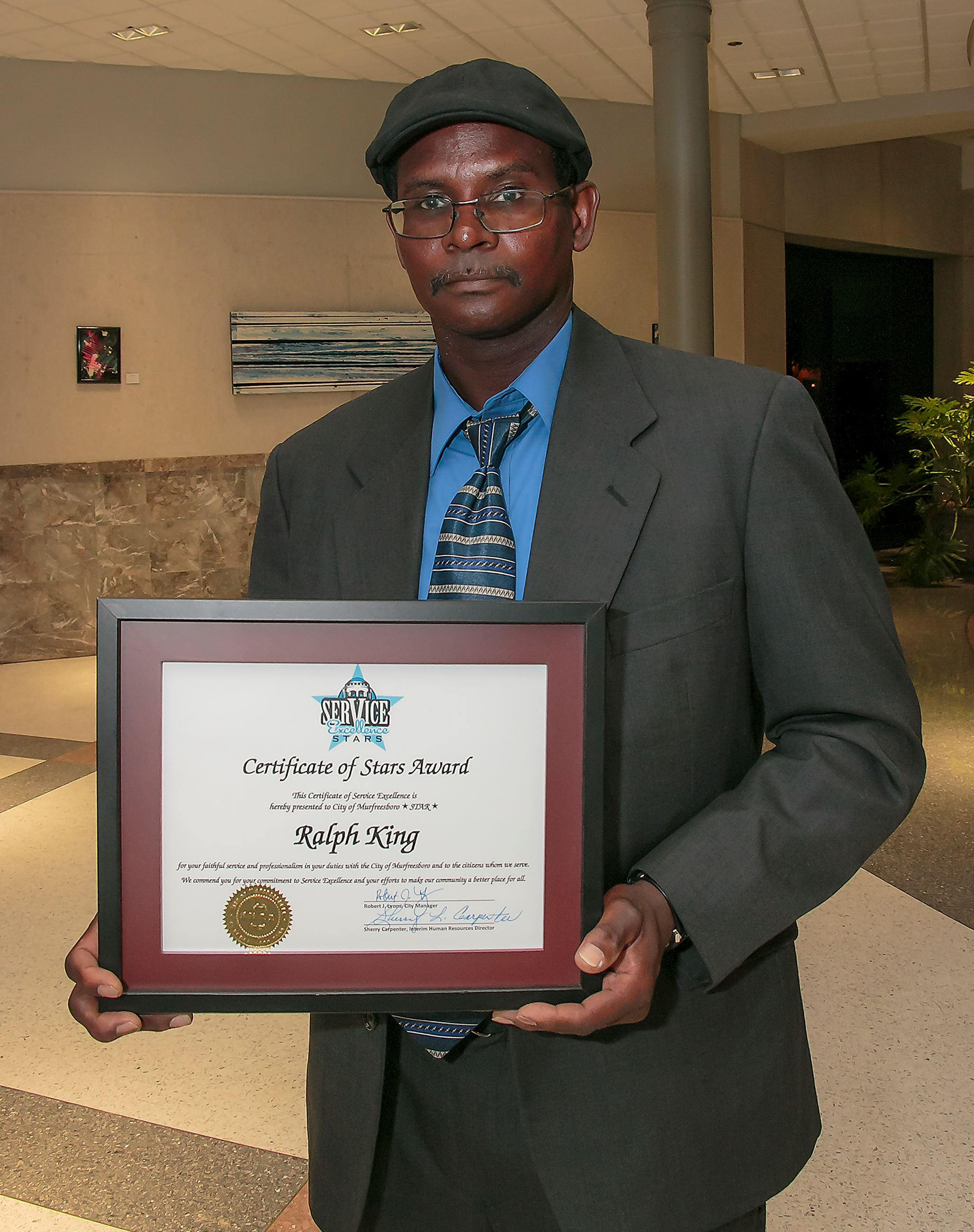 Photo of City Recognizes Solid Waste Employee Ralph King with STARS Award