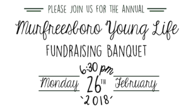 Photo of Young Life Murfreesboro Welcomes All to Banquet