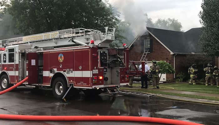 Fire at 2727 Comer Drive