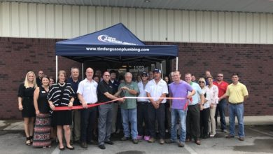 Photo of Ribbon Cutting for Tim Ferguson Plumbing