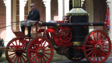 Photo of MFRD Receives Honor for Preservation of 1892 Ahrens Steam Fire Engine