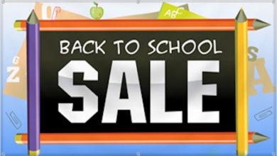 Back to School Saturday Sale