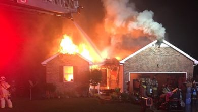 House Fire at 1319 Dodd Trail