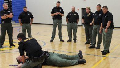 Photo of SRO active aggressor training exercise