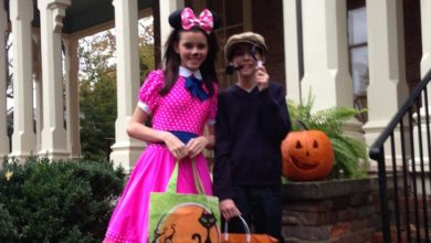 """Photo of Trick-or-Treating at the """"Old Maney Mansion"""""""