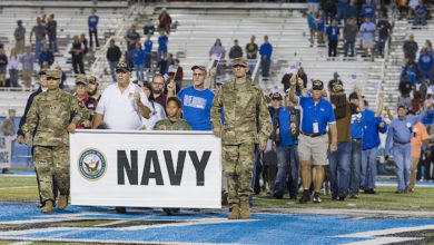 Photo of 37th MTSU Salute to Armed Forces game Nov. 2 recognizes veterans