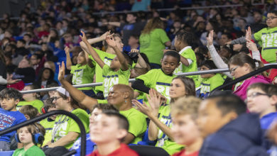 Photo of Thousands of City Schools' students cheer Lady Raiders to victory