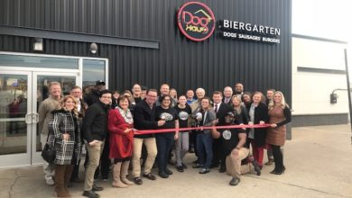 Photo of Ribbon Cutting and Re-grand opening for Dog Haus Biergarten