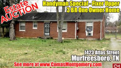 Estate Auction at 1423 Atlas Street
