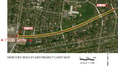 Mercury Blvd. Project Map Phase 2
