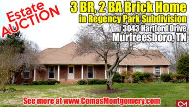Estate Auction at 3043 Hartford Drive
