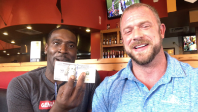 Act of Kindness surprise to server at Genghis Grill