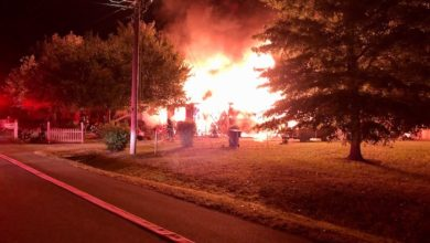Fire on Huntwood Drive