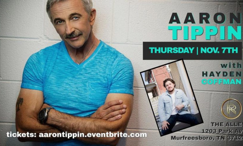 """Photo of Country Icon Aaron Tippin Plays Intimate """"Home Town"""" Acoustic Concert at Ridenour Rehearsal Studios, The Alley on Thursday, Nov. 7"""
