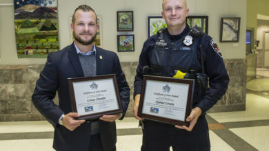 Photo of City recognizes team of MPD officers who made August drug bust as STARS Award recipients