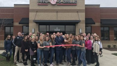 Photo of Ribbon Cutting for Two J's Grille