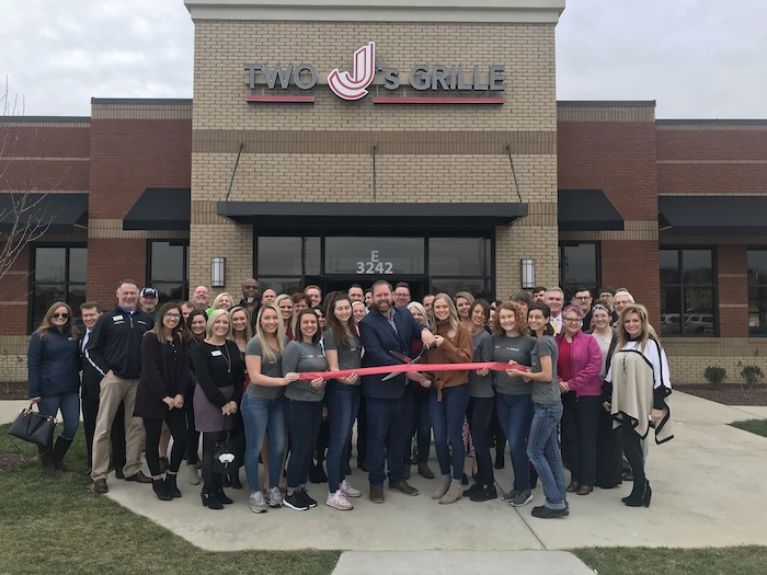 Ribbon Cutting for Two J's Grille