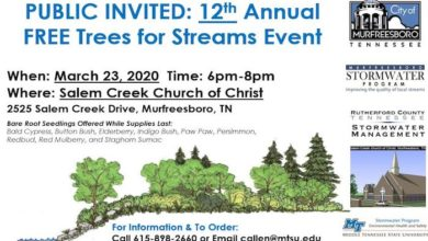 12th Annual FREE Trees for Streams