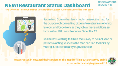 Photo of Rutherford County Launches Interactive Map for Connecting Citizens to Restaurants Offering Takeout/Delivery