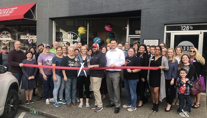 Ribbon Cutting for Simply Pure Sweets