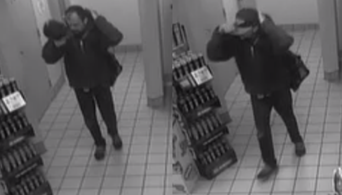 Suspect involved in the theft of a vehicle