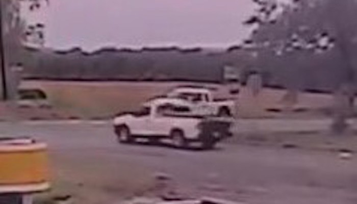 Truck involved in Veterans Parkway shooting